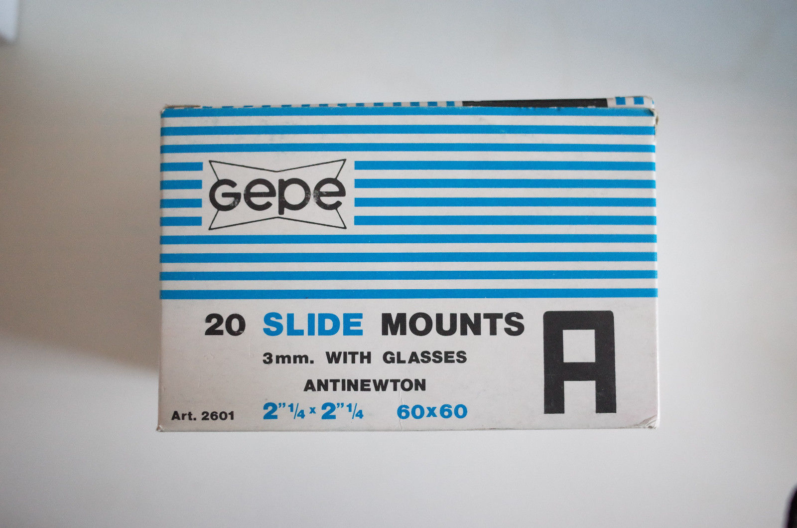 GEPE 6x6 slide mounts anti-newton glass ANR glass 20x