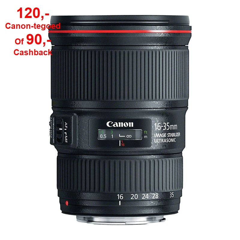 Canon EF 16-35mm f/4.0L IS USM + zonnekap